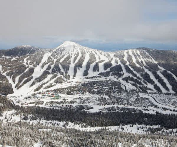 A view of the face of Mount Washington from above