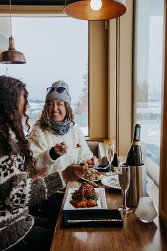Eating with a view on Mount Washington